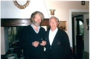 con Andrea Cresti a Monticchiello aprile 2003